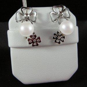 Orecchini Perle e Brillantini